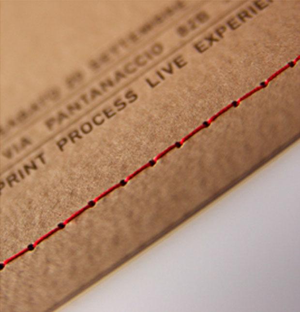 Imprenta entre costuras o el reto del cosido con hilo