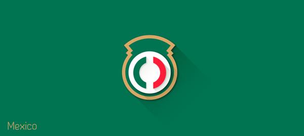 flat design – FIFA – Mexico
