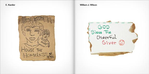 The Starving Artist Project –piezas rotuladas en cartón