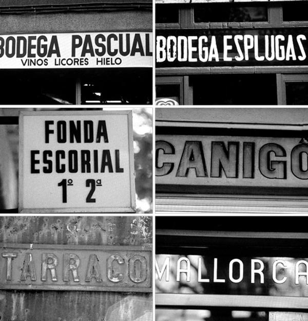 Rótulos de bares de los años 70