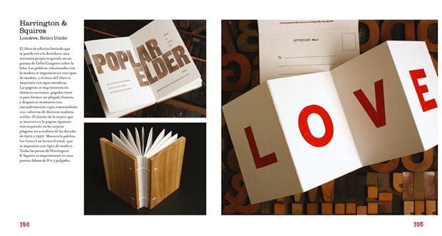 Nueva impresión tipográfica – libro de Charlotte Rivers - páginas interiores