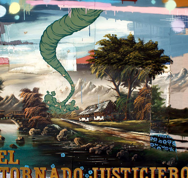 Cuadros bizarros intervenidos por Julio Falagán