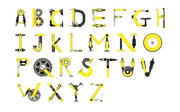 Diseño del alfabeto Bicis