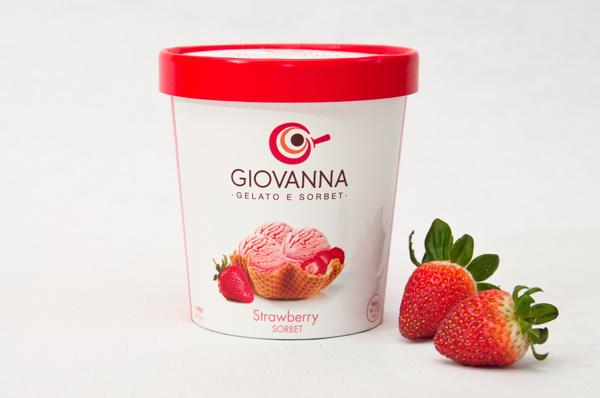 Diseño de packaging para Giovana Gelato & Sorbet