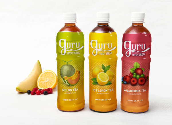 Diseño de marca y packaging para Guru Teas