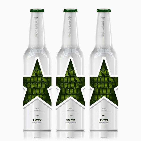 Diseño de botellas para Heineken