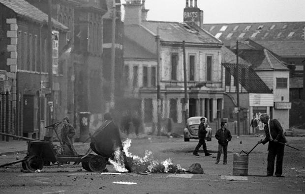 Fotografía de los conflictos en Irlanda en 1973