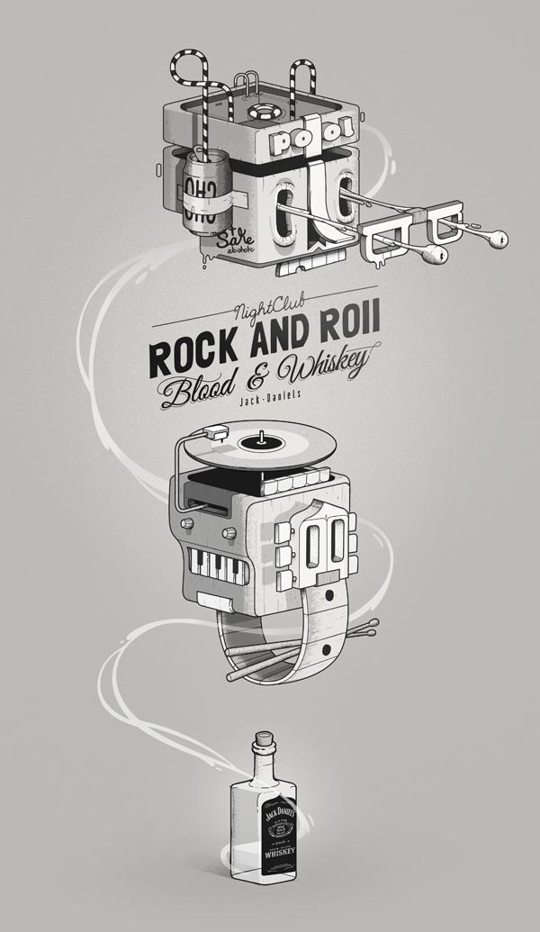 Ilustración para Jack Daniels