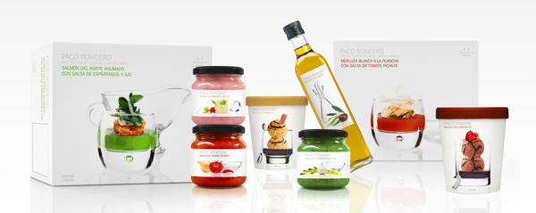 Diseño de packing para Paco Roncero Gourmet, por Mara Rodríguez