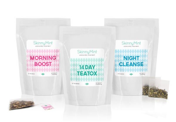 Diseño de packaging para Skinny Mint
