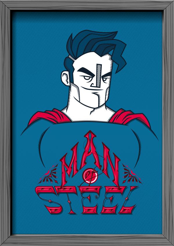 Ilustración Super Heroes Tribute
