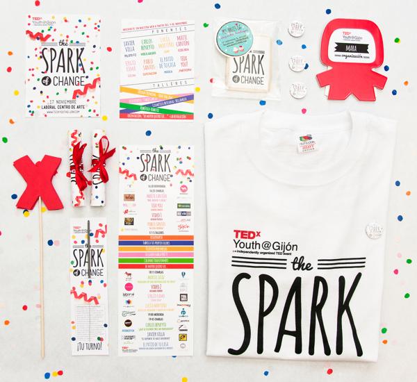 Diseño de cartel y aplicaciones para TEDx Youth Gijón