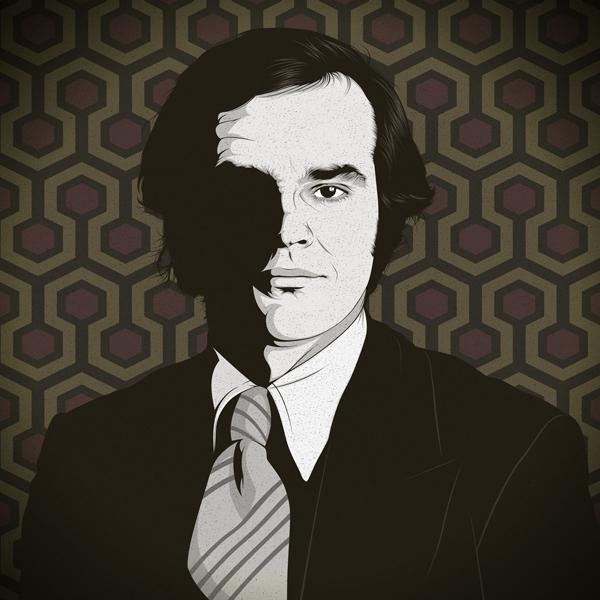 Ilustración del actor Jack Nicholson
