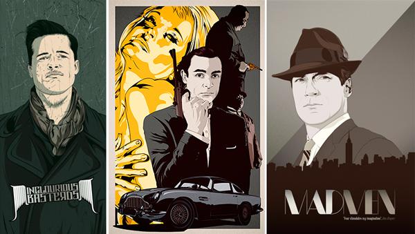 Ilustración de personajes famosos