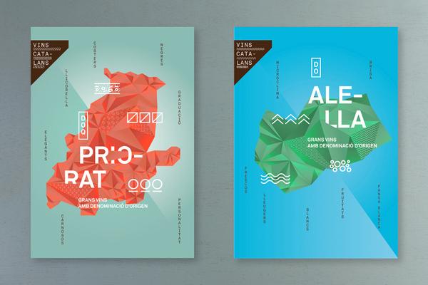 Diseño de carteles para Vins Catalans