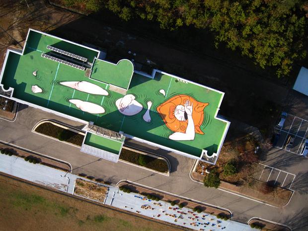WATERBEACONS Santiago Morilla, street art visto desde las alturas