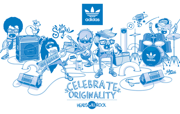 Ilustración de julián Ardila para Adidas
