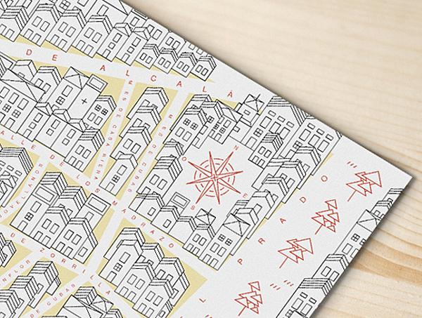 Detalle del plano Ruta Letras y Espadas, diseñado para la Comunidad de Madrid