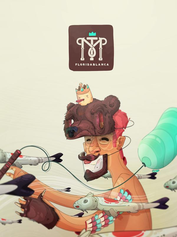 Ilustración Fiesta de Machines