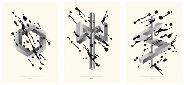 Carteles de la serie llamada Formas Imposibles