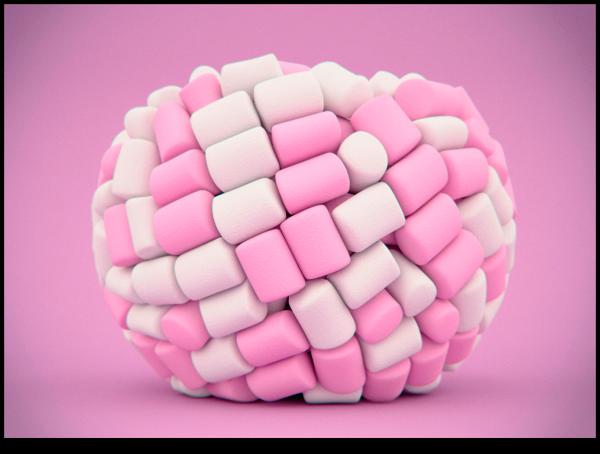 Marshmallow en 3D