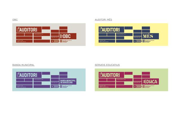 Diseño de la marca de L'Auditori