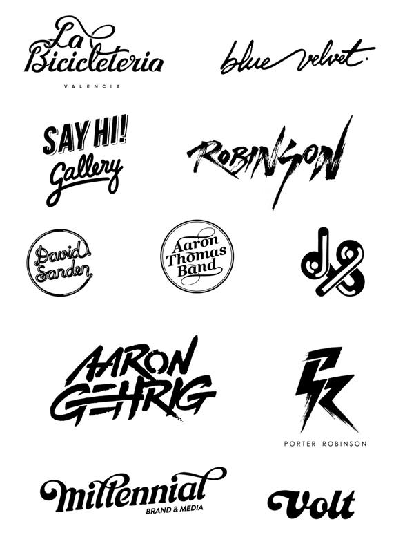 Logotipos basados en el lettering