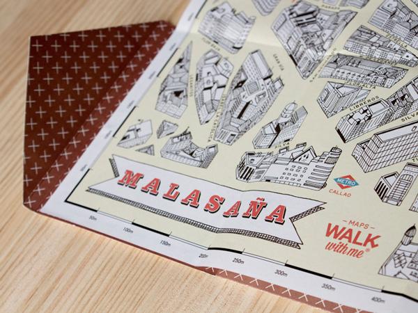 Detalle del plano del barrio de Malasaña