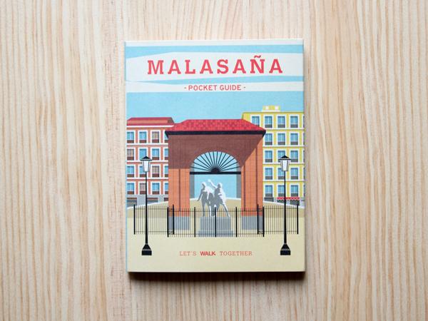 Portada del plano del barrio de Malasaña