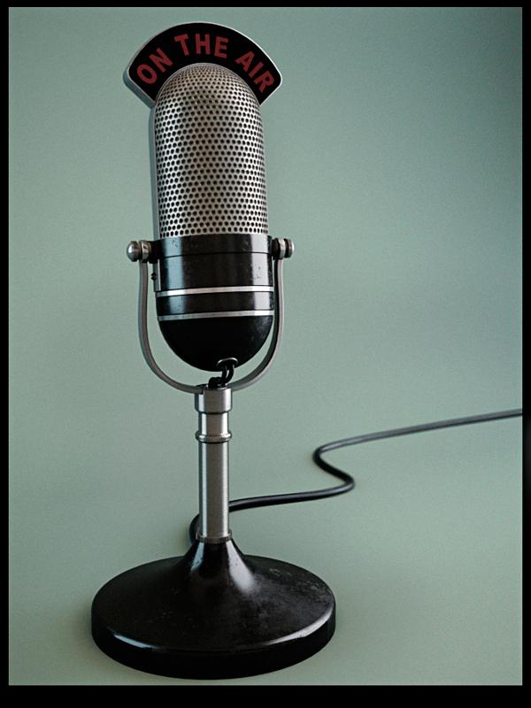 Micrófono clásico en 3D