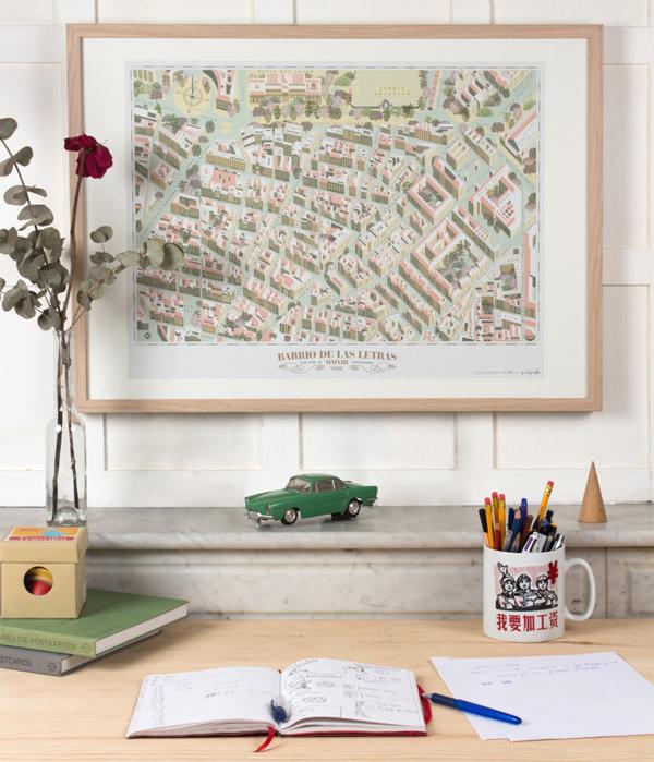 Diseño del plano del Barrio de las Letras