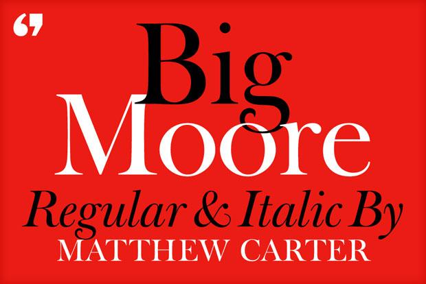 Matthew Carter – tipografía Big Moore