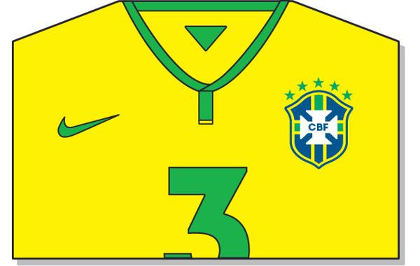 Camiseta oficial Brasil 2014 Mundial