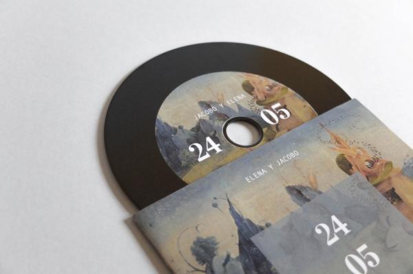 invitación de boda en CD-vinilo – Silvia Gil-Roldán