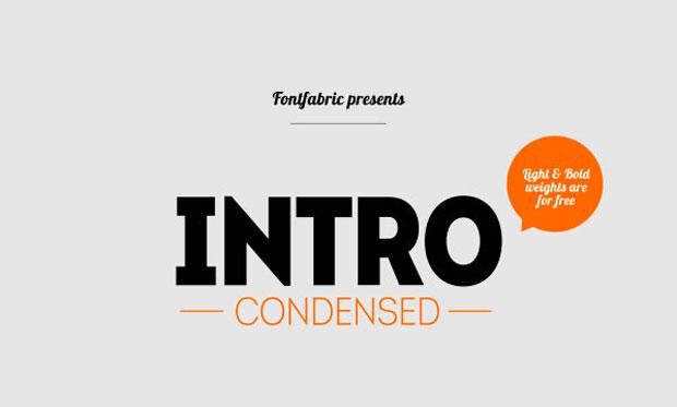 Intro Condensed, una display en libre descarga en sus versiones light y bold