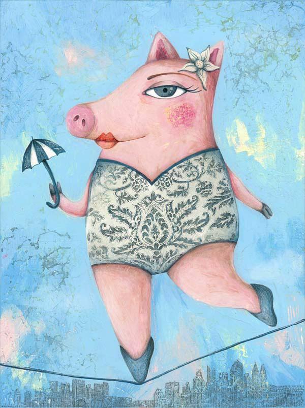 Magda, personaje ilustrado de Larry y sus amigos