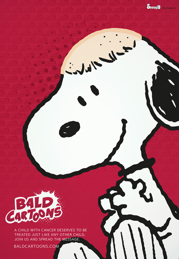 Bald Cartoons – Snoopy
