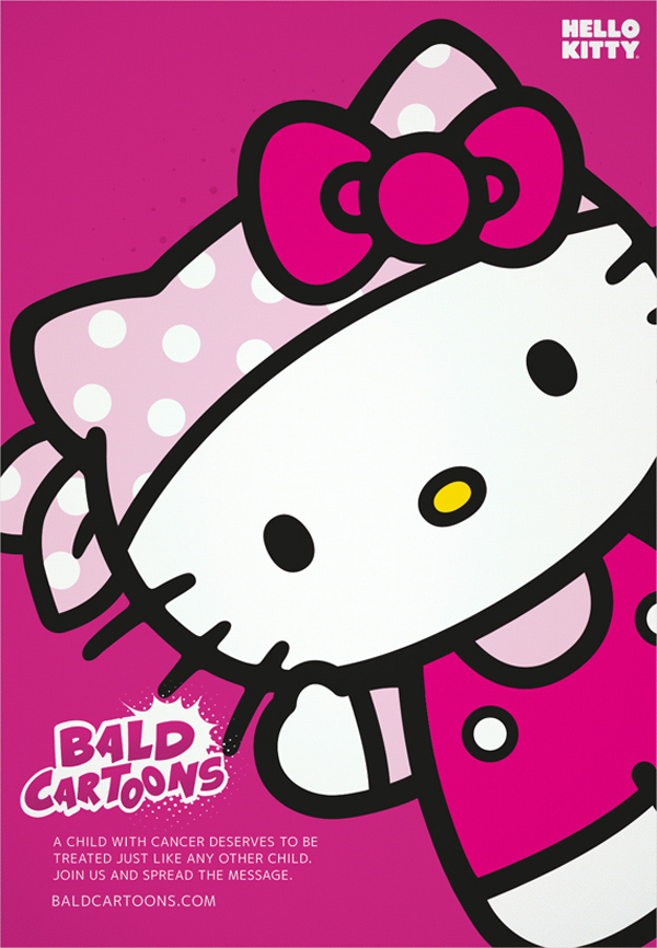 Bald Cartoons – Hello Kitty