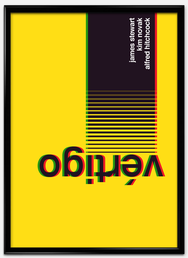 Swiss Style Design: carteles de películas al estilo suizo