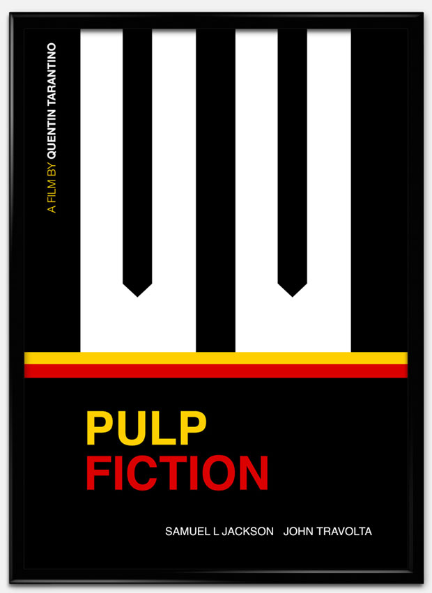Swiss Style Design: carteles de películas al estilo suizo – Pulp Fiction