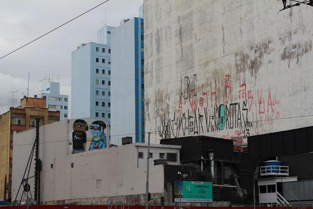 Pixação, tipografía urbana como signo protesta – Fotografía: Ana Márquez
