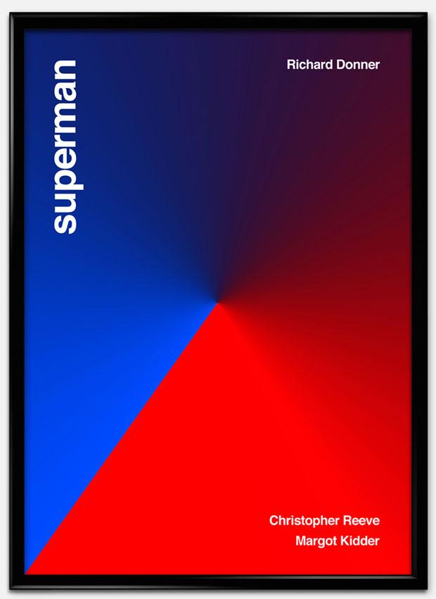 Swiss Style Design: carteles de películas al estilo suizo – Superman
