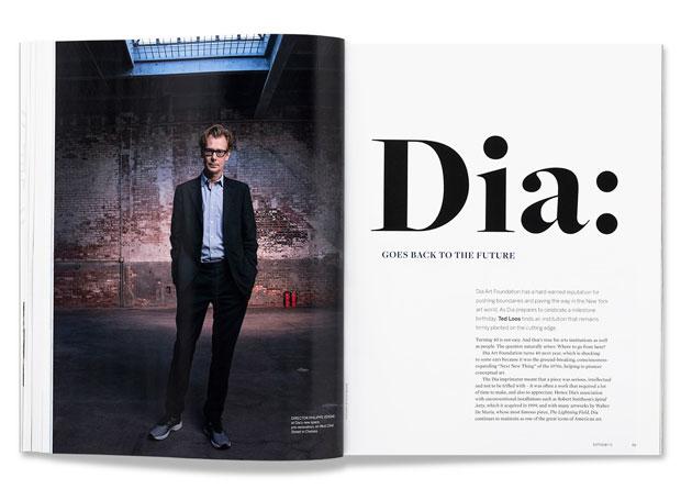 Sotheby's – proyecto editorial con la tipografía terciaria Freight