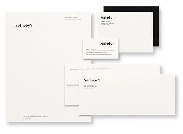 Sotheby's nueva diseño papelería realizado por Pentagram