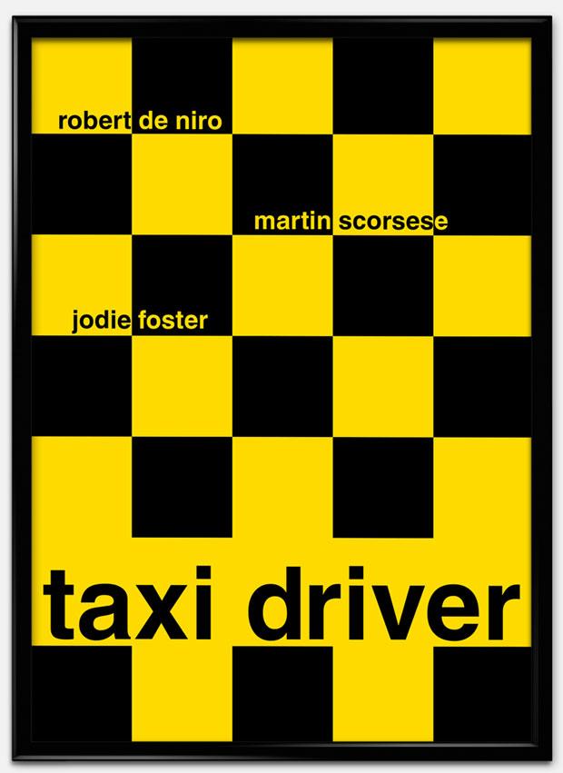 Swiss Style Design: carteles de películas – Taxi Driver