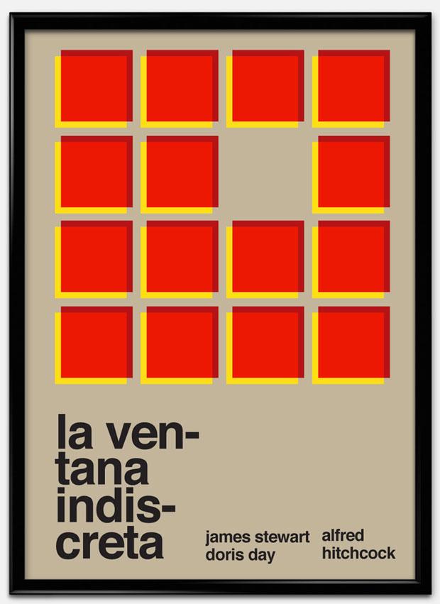 Swiss Style Design: carteles de películas – La ventana indiscreta