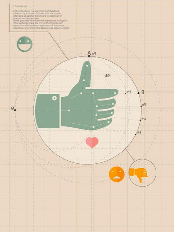 Enrenow ilustra los like de Facebook