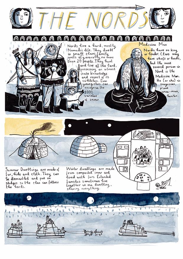 Novela gráfica titulada The Encyclopedia of Early Earth, por Isabel Greenberg