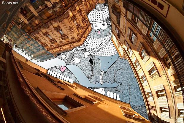 Ilustración perteneciente a la serie Sky Art de Thomas Lamadieu