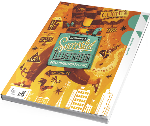Diseño de portada del libro Becoming a Successful Illustrator